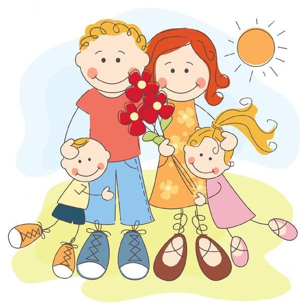Смешные рисунки на тему семья